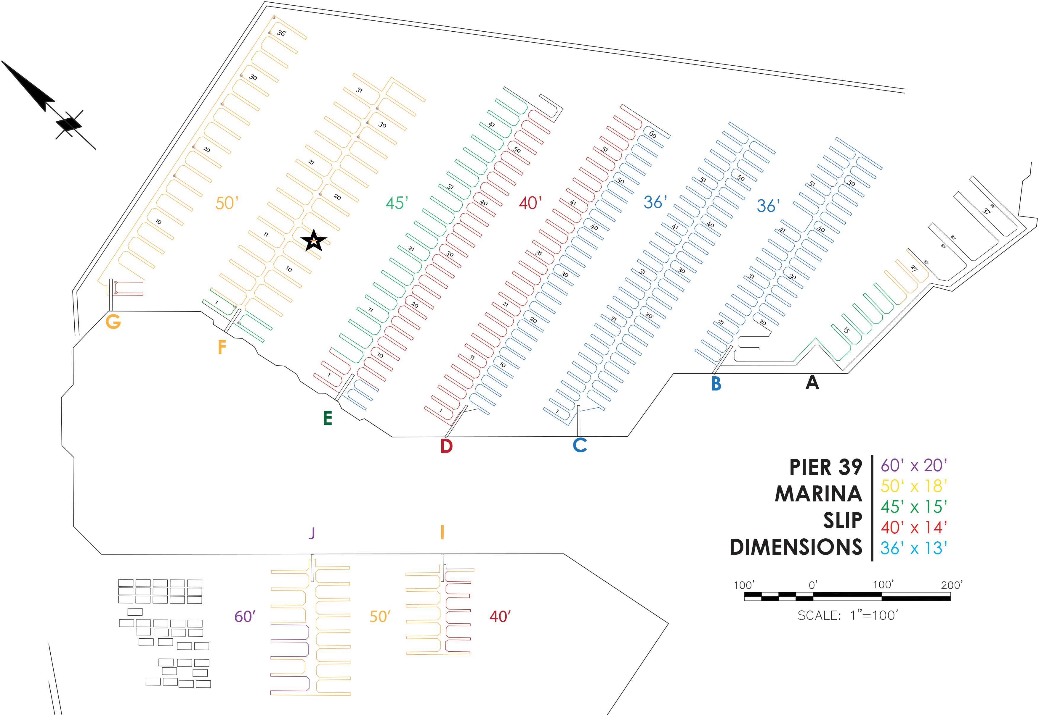 Color Coded Map Marina 2018 Dockbox